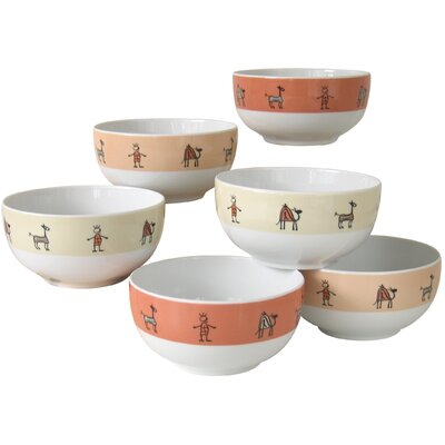 Creatable Urban Style Muesli Bowls Set of 6