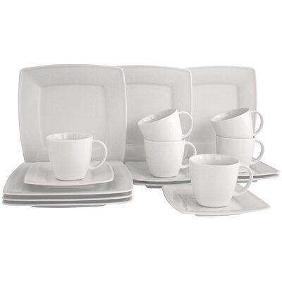 Creatable Victoria Weiß 18-Piece Porcelain Tea Set
