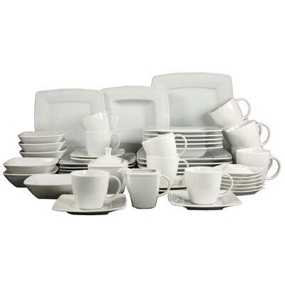 Creatable Victoria Weiß 50 Piece Dinnerware Set