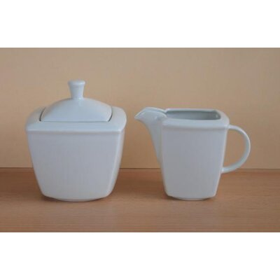Creatable 2 Piece Victoria White Milk and Sugar Set