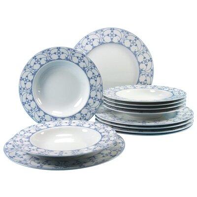 Creatable Brokum Indisch Blau 12 Piece Dinnerware Set