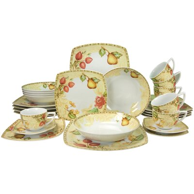 Creatable Country 30 Piece Dinnerware Set