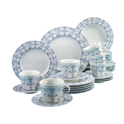 Creatable Borkum Indian Blue 30 Piece Dinnerware Set