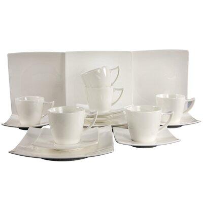 Creatable Elegance 18-Piece Porcelain Tea Set