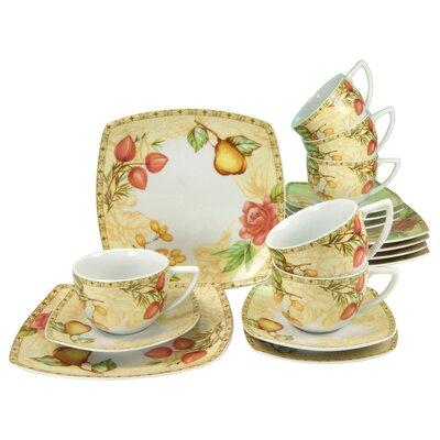 Creatable Country 18-Piece Porcelain Tea Set