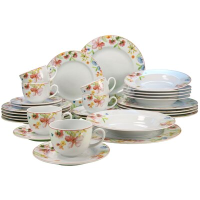 Creatable Fiore 30 Piece Dinnerware Set