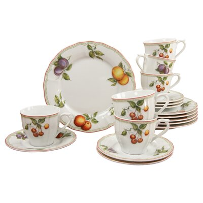 Creatable Orchard 18 Piece Porcelain Coffee Set
