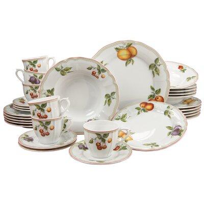 Creatable Orchard 30 Piece Porcelain Dinnerware Set