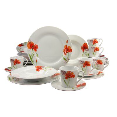 Creatable Novo Mona 30 Piece Porcelain Dinnerware Set