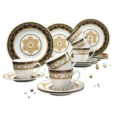 Creatable Majestosa 18 Piece Porcelain Coffee Set