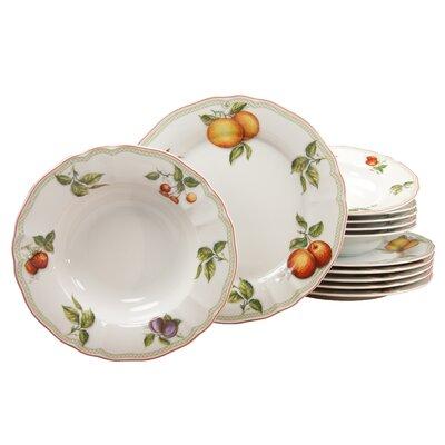 Creatable Orchard 12 Piece Porcelain Dinnerware Set