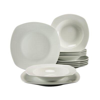 Creatable Amelie 12 Piece Porcelain Dinnerware Set