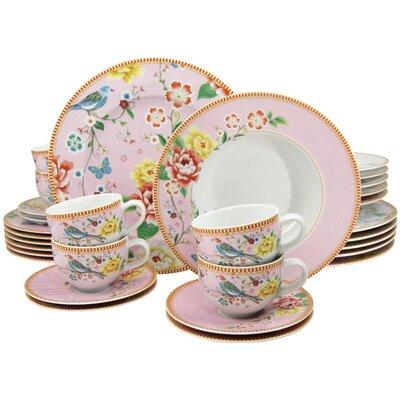 Creatable Amelia Birdy 30 Piece Porcelain Dinnerware Set