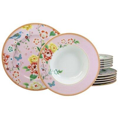 Creatable Amelia Birdy 12 Piece Porcelain Dinnerware Set