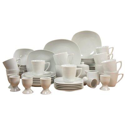 Creatable Bianca 50 Piece Dinnerware Set