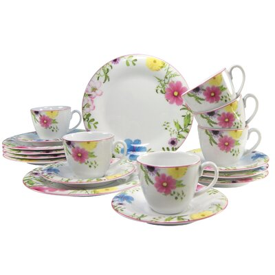 Creatable Soft Samira 18 Piece Coffee Set