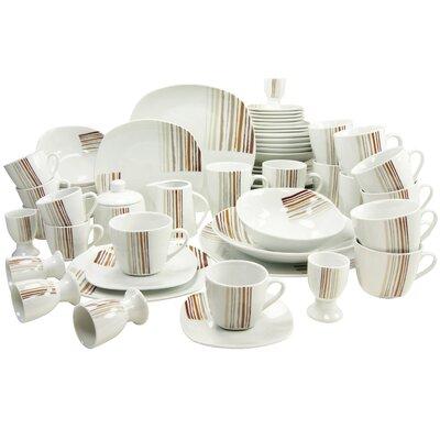 Creatable Square Modern 62 Piece Dinnerware Set