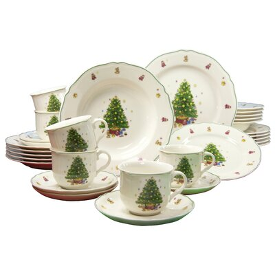 Creatable Tannenbaum Premium 30 Piece Dinnerware Set