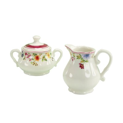 Creatable Cornwall Garden Sugar and Creamer Set