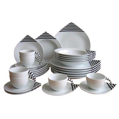 Creatable Drop Rattenscharf 30 Piece Porcelain Dinnerware Set