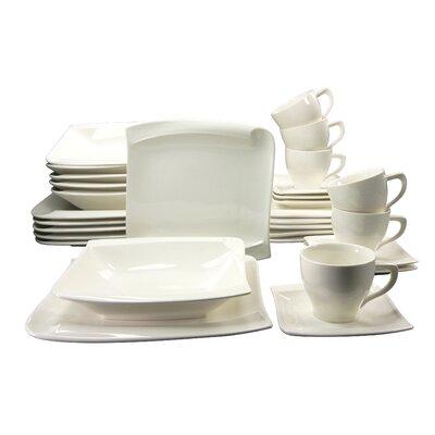 Creatable Menue 30 Piece Porcelain Dinnerware Set