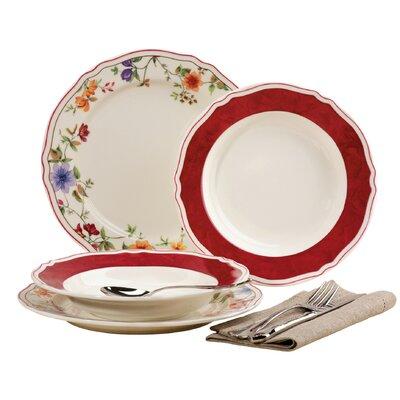 Creatable Cornwall Garden 12 Piece Porcelain Dinnerware Set