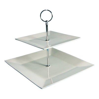 Creatable Square 2 Tier Cake Stand