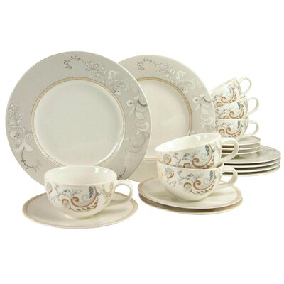 Creatable Palacio 18 Piece Porcelain Tea Set