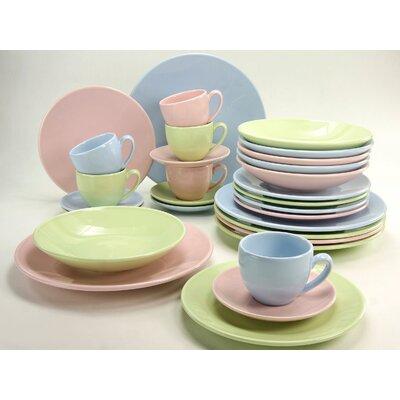 Creatable Pastel 30 Piece Dinnerware Set