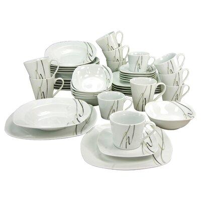 Creatable Amelie Piazza 42 Piece Dinnerware Set