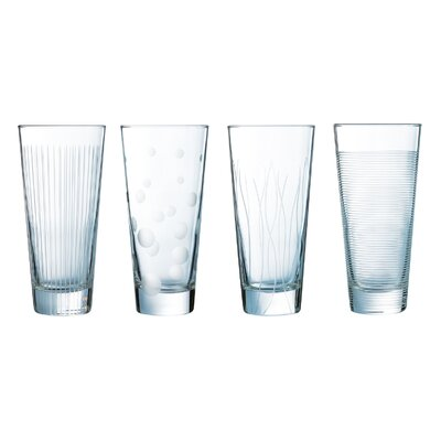 Creatable 4 Piece Long Drink Glass Set