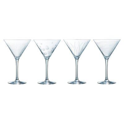 Creatable 4 Piece Cocktail Glass Set
