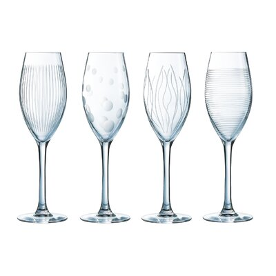 Creatable 4-Piece 220ml Champagne Glass Set