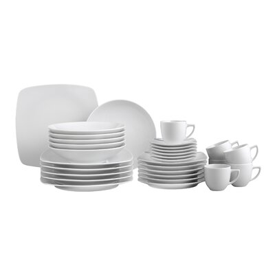 Creatable Dakar White 30 Piece Dinnerware Set