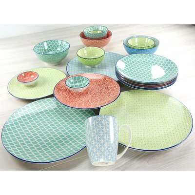 Creatable Mediterran 16 Piece Dinnerware Set