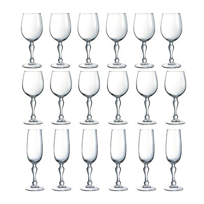 Creatable Charms 18 Piece Stemmed Glasses