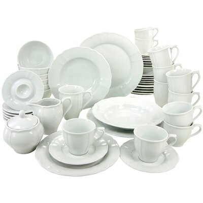Creatable Flora 50 Piece Dinnerware Set