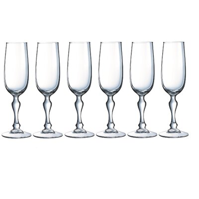 Creatable Charms 6 Piece Champagne Flutes Set
