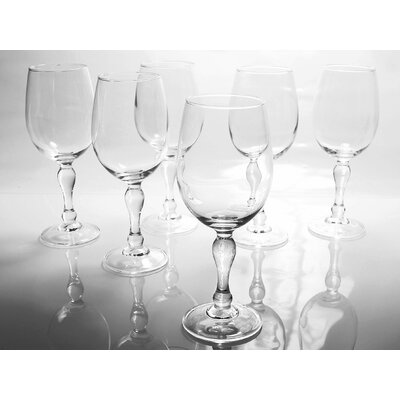 Creatable Charms 6 Piece White Wine Glass Set