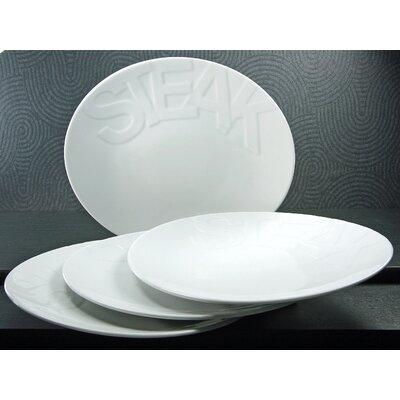 Creatable Gourmet 30cm Steak Plate 4 Piece Set