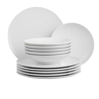 Creatable Zen White 12 Piece Dinnerware Set