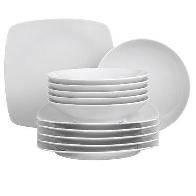 Creatable Dakar White 12 Piece Dinnerware Set
