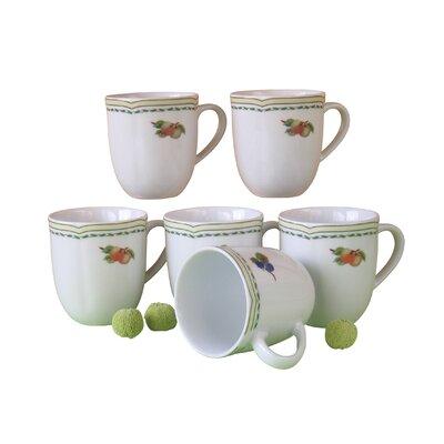 Creatable Alba Obst 6 Piece Mug Set