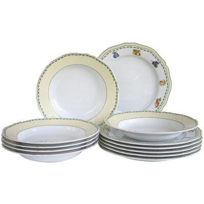 Creatable Alba Obst Porcelain Plate 12 Piece Set