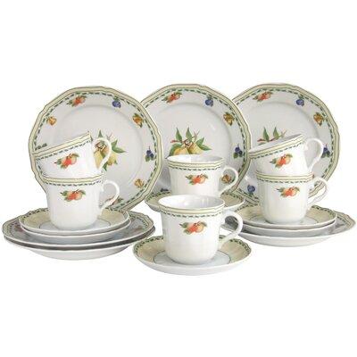Creatable Alba Obst 18 Piece Porcelain Dinnerware Set