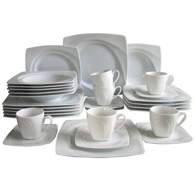 Creatable Celebration 30 Piece Porcelain Dinnerware Set