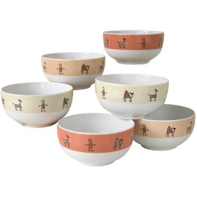 Creatable Urban Style 6 Piece Cereal Bowl Set