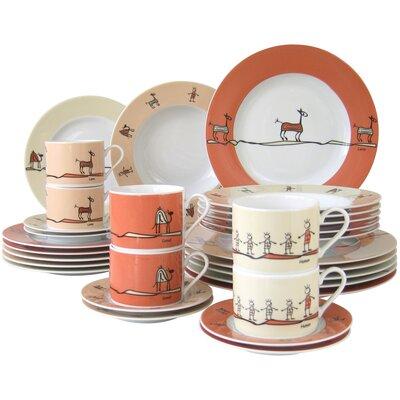 Creatable Urban Style 30 Piece Dinnerware Set
