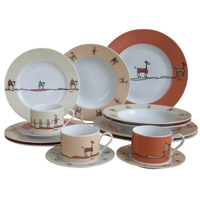 Creatable Urban Style 12 Piece Dinnerware Set