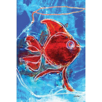 Watercolor Red Goldfish 2-Sided Garden flag